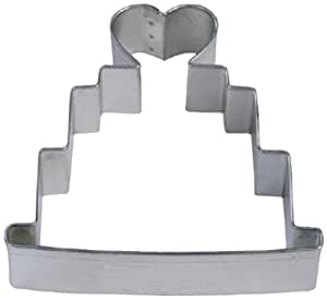 Dress My Cupcake Wedding Cake Cookie Cutter, 4-Inch