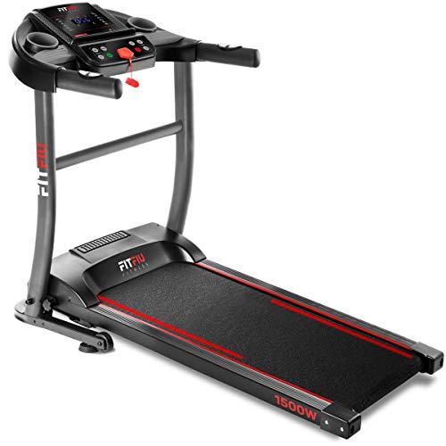 Fitfiu Fitness MC-200 - Cinta de correr plegable con velocidad hasta 14 km/h, superficie de carrera de 40 x 110 cm, motor de 1500W, pantalla LCD, pulsómetro y sistema de paro de emergencia a buen precio