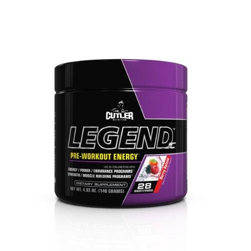 Cutler Nutrition Legend Pre-Workout Energy Formula, Berry Splash, 4.93 Ounce