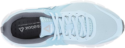 Reebok Women's Asteroid Alloy Metallic Fresh Steel Blue Silver Hexaffect Dust White f67qf