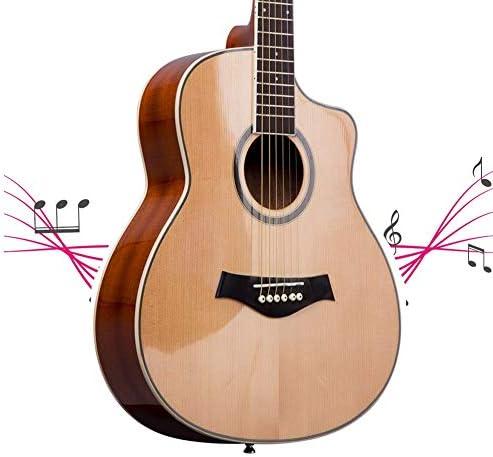 YJFENG クラシックギター、 36インチ スプルース単板 軽くて便利 シュプレー 、初心者、子供旅行に最適 (Color : Beige, Size : 36Inch)