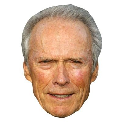Clint Eastwood Celebrity Mask, Cardboard Face and Fancy Dress Mask (Celebrity Face Masks)