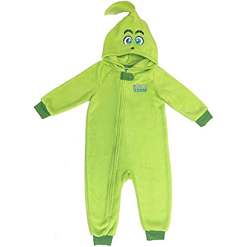 Baby Grinch in Training One Piece Pajamas; (12-18 Months) | for Christmas; New Year or Birthday Grinch-Theme-Party ()