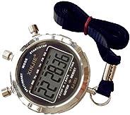 Cronômetro ibasenice – Cronômetro eletrônico portátil e à prova d'água, cronógrafo, cronômetro, LCD para e