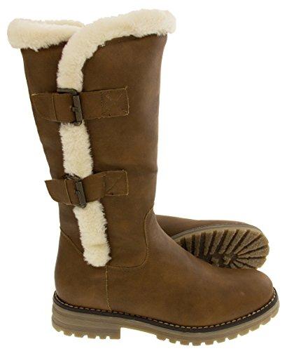 Keddo d'hiver 03 imitation femmes véritable pour Bottes 808137 de doublées Chaussures cuir laine Studio wTUq554t