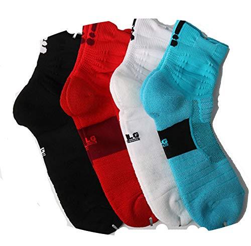 L Blanco De 4 Nylon Negro Ciclismo Deporte Rojo Color Largos Sonmo Calcetines Pares Talla Azul vOwq77