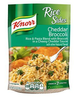 Knorr, Rice Sides, Flavor, 5.7oz Pouch (Pack of 6) (Choose Flavors Below) (Cheddar Broccoli Rice)