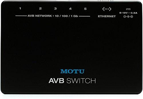 MOTU AVB Switch - 5-Port Audio Video Bridging Switch (Best 5 Port Switch)