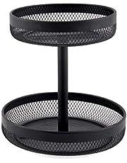 Classica PL Size: 30Cm Mesh 2 Tier Basket, Black, KM021A