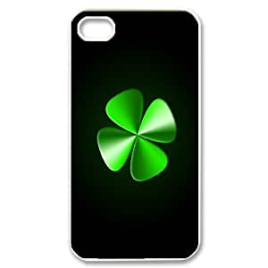 High Quality Phone Back Case Pattern Design 16Irish Flag with Celtic Clover-Lucky Clover- For Iphone 4 4S case cover