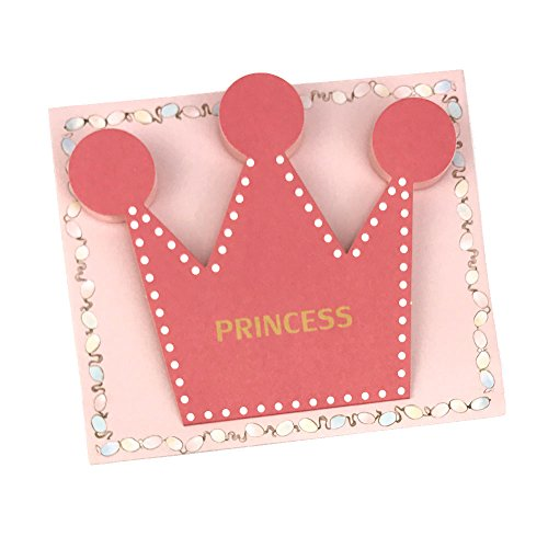 50pcs Pink Blue Prince Princess Crown Party Invitation Card Kids Birthday Party Supplies Baby Shower Thanks Card For Guests (pink) (Shower Baby Invitations Prince)