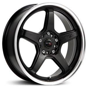 Drifz 304MB Circuit 17x7.5 5x100/5x114.3 +42mm Black Wheel Rim