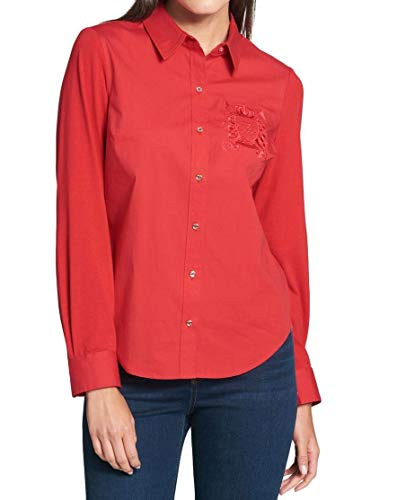 Tommy Hilfiger Women's Embroidered Button Down Blouse
