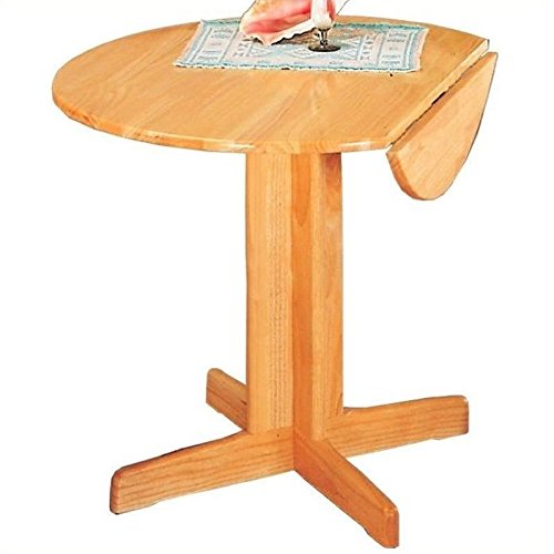 Coaster Home Furnishings Casual Dining Table, Natural - Round Double Drop Leaf