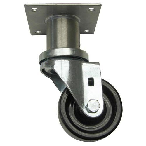 CHG (Component Hardware Group) C47-0306-C Plate Caster No Brake 1/2'' Adjustable Wheel 3'' Component Hardware Group 263112 Chg (Component Hardware Group)