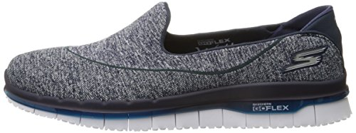 Skechers Flex Go white Navy Trainers Women's BwrBpARq