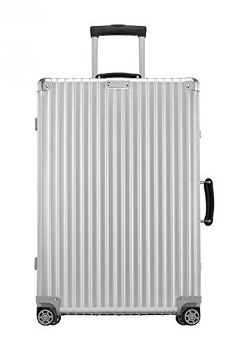 Rimowa Classic Flight Carry on Luggage 28″ Inch IATA Cabin Multiwheel 60L TSA Suitcase Silver