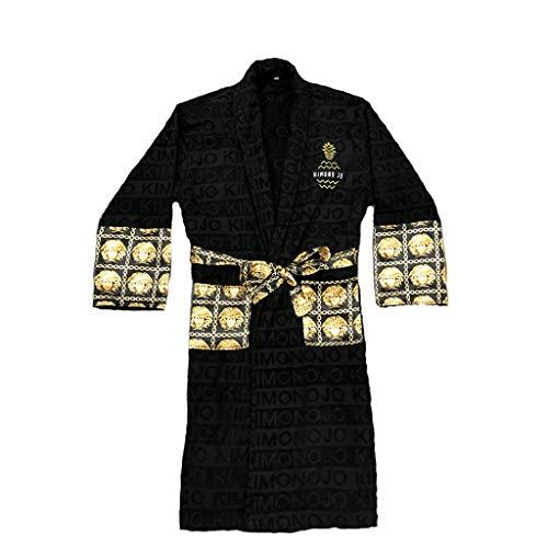 - Royalty Bath Robe Black and Gold