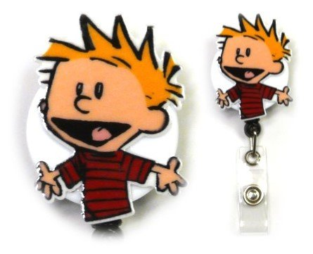 Calvin Inspired Decorative ID Badge Holder