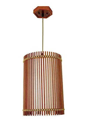 (Liveinu Handmade Asian Bamboo Pendant Hanging Lamp with Pull Switch)
