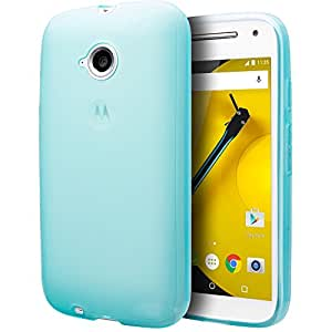 Motorola Moto E (2nd Generation, 2015) Case, Cimo [Grip] Premium Slim Fit Flexible TPU Case for Motorola Moto E (2nd Generation) - Blue