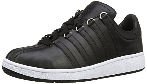(K-Swiss Men's Classic Vintage Updated Iconic Shoe, Black/White, 9 M US)