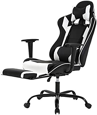 Excellent Racing Gaming Chair High Back Pu Leather Home Office Chair Desk Computer Chair Ergonomic Executive Swivel Rolling Chair With Arms Lumbar Support For Pdpeps Interior Chair Design Pdpepsorg