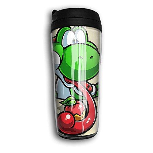 XLF-K2 Vacuum Insulated Leak Durable Portable Travel Coffee Mug For Home Office School Ice Drink Hot Beverage Cup Pocket Yoshi Fruit- Super Tee Tshirt Design - Tee T-shirt Fruit