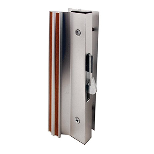 Sliding Glass Patio Door Handle, Hook Style, Surface Mount, 1-1/2