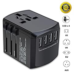 All in one worldwide travels adapter, cover more than 150 countries outlet plugs. When you go travel around the world, it can be used in anywhere. Note:  1. This travel plug charger adapter is not a power converter, it just converts the power...