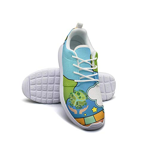 World Hands Happy Earth Day Mens Flat Bottom Casual Shoes Low Help Tennis Shoes