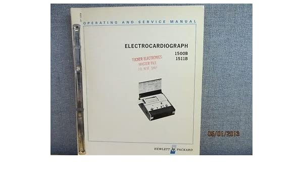 Amazon com : Agilent/Hp 1500B/1511B Electro-cardiograph Operating