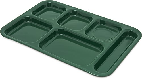 Carlisle 4398808 Right Hand 6-Compartment Cafeteria / Fast Food Tray, 14.5