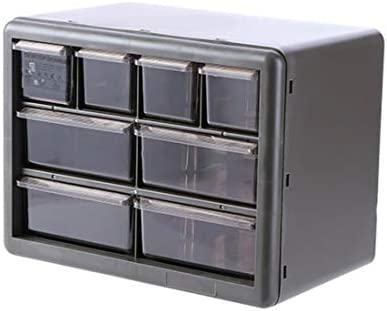 Schubladenartige mehrschichtige Unordnung Home Desk Oberflächenkosmetik (Empfangsbox) Dunkelgraue 8 Zellen