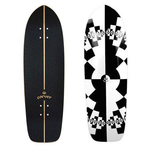 "Carver Skateboards Cruiser/Surfskate Deck 32"" Fraktal 24,45cm x 81,3cm"