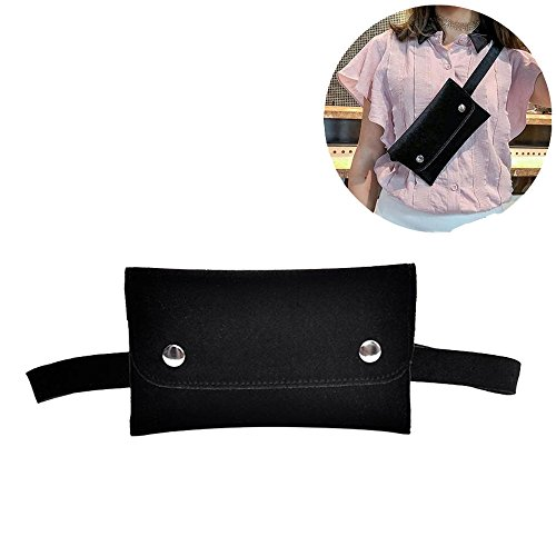 VITORIA'S GIFT Womens Velvet Hip Belt Bum Fanny Pack, removable Belt with MINI Purse Travel Cell Phone(not more than 5 inch) Bag by VITORIA'S GIFT