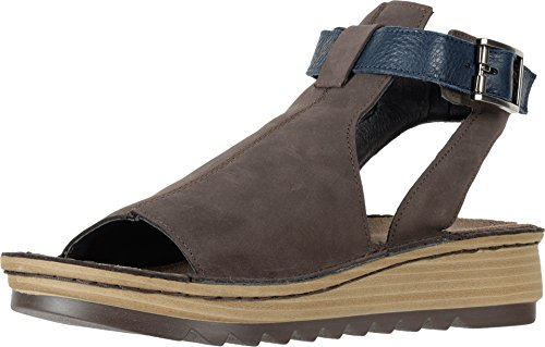 NAOT Footwear Women's Verbena Sandal Coffee Bean Nubuck/Ink Lthr 10 M US