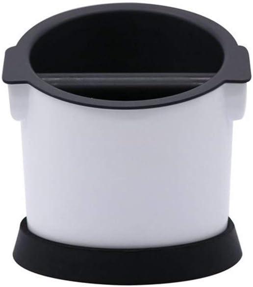 Contenedor de posos de café Espresso Knock Box Pequeña capacidad posos de café Cubo caja de discos removibles Cafetera Electrodomésticos apoyo de Hogares (Color : Blanco , tamaño : 15x15.5x15.5cm) :