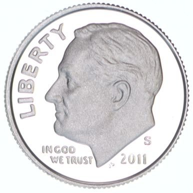 2011 S Roosevelt Silver Proof Dime PF1