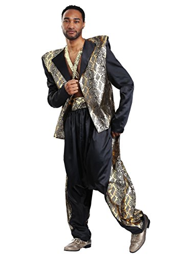 Men's Can't Touch This Pop Star Costume X-Large Black]()