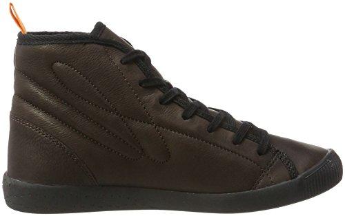 Softinos Damen Izi399sof Smooth Hohe Sneaker Braun (dk Brown)