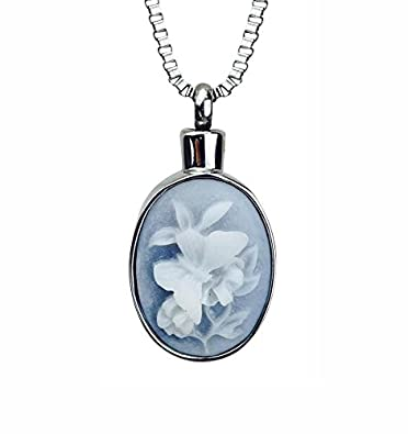 Love to Treasure Vintage Style Urn Pendant - Memorial Ash Keepsake - Cremation Jewellery a98py
