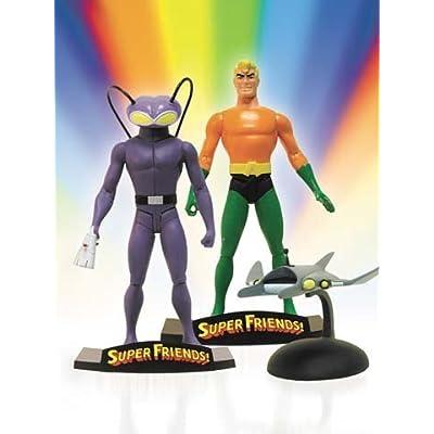 Super Friends!: Aquaman & Black Manta Deluxe Action Figure Set: Toys & Games
