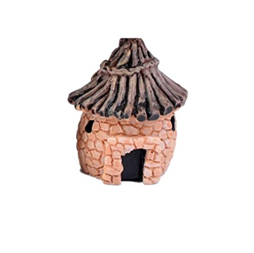 YRD TECH Mini Dollhouse Stone House Cottage Resin Decorations For Home And Garden DIY Mini Craft Cottage Landscape Decoration (A) (Disney Rear View Mirror Ornament)