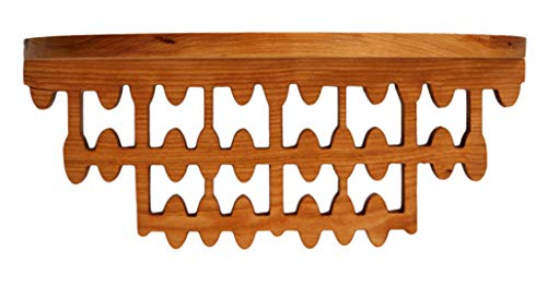 Hardwood Round Shelf - Floating Shelf in Solid Cherry, Abacus Design