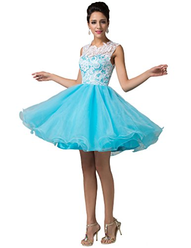 Lace Bodice Dress (Short Prom Dresses Homecoming with Lace Hollow-Out Bodice)