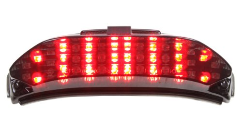 Honda Cbr600rr Tail (2013-2018 Honda CBR600RR Integrated Sequential LED Tail Lights Smoke Lens)