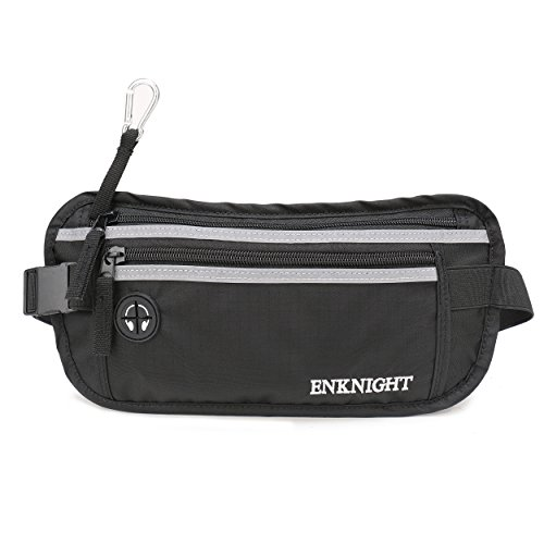 ENKNIGHT Big RFID Money Belt for Travel Running Waist Pack Fanny Pack - Of A Card Credit Size Average