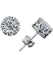 Stud Earings Fashion Jewelry Unisex Trendy Women/Men Crystal Earrings Crown Earring Piercing Gifts
