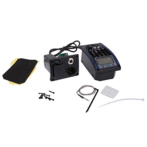 MonkeyJack 4-Band Preamplifier EQ Equalizer Pickup Tuner Kit for Acoustic Guitar Parts by MonkeyJack